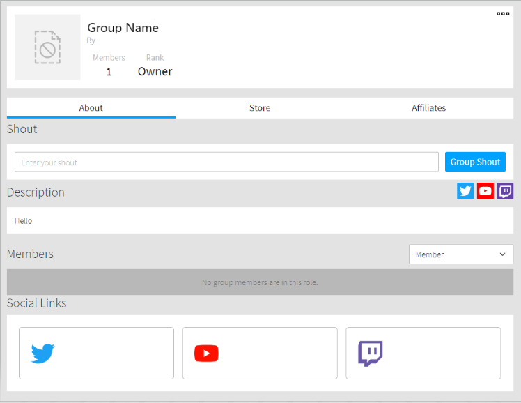 Social Links on Group Descriptions – Roblox Support