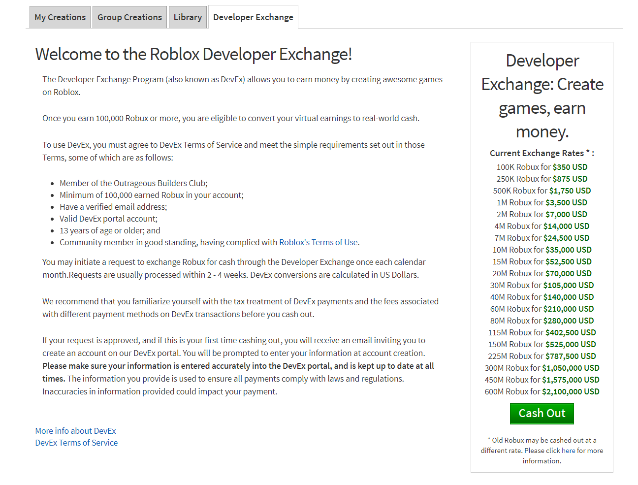 Developer Exchange Devex Faqs Roblox Support - roblox best selling game