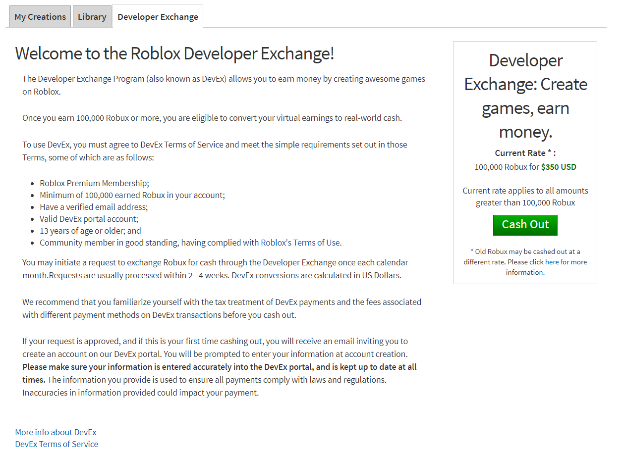 Developer Exchange Devex Faqs Roblox Support - ww robux gg generator for robux 2019