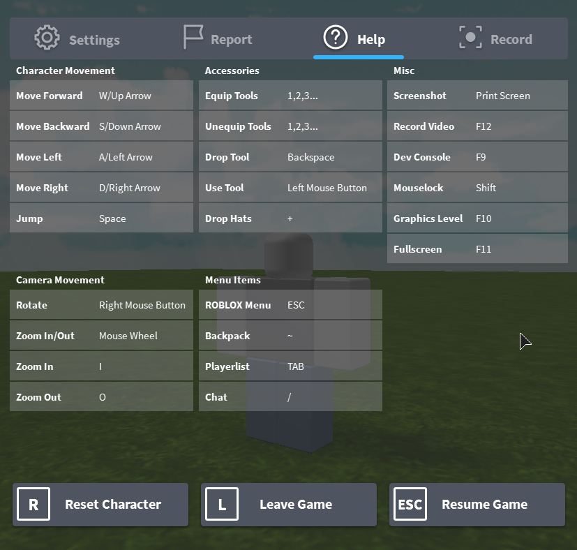 Keyboard and Mouse Controls – Roblox Support
